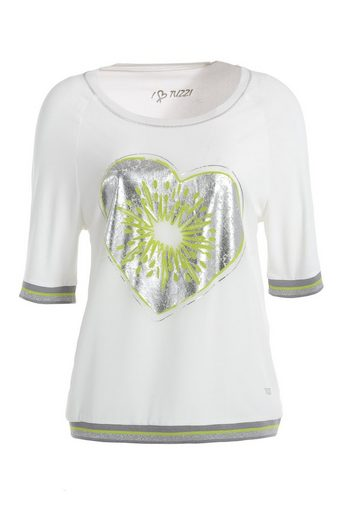 TUZZI Top-TShirt Blousonshirt mit 'Kiwi-Heart-Print'