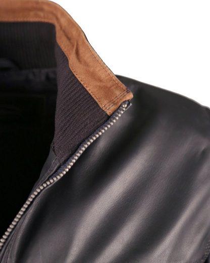 JCC Eleganter Lederblouson mit Kontrasteinsätzen 40675