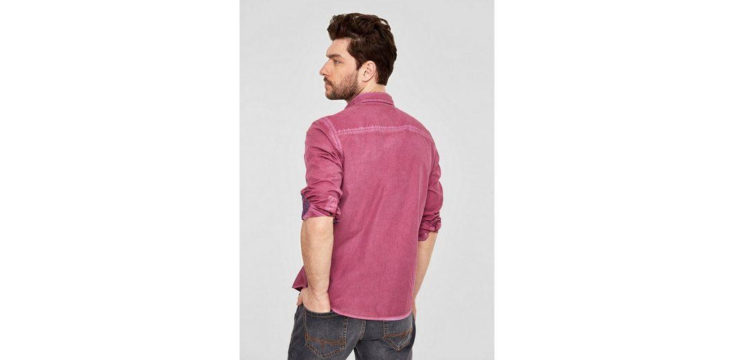 100% Zum Verkauf Garantiert Steckdose Neue Stile s.Oliver RED LABEL Regular: Hemd in Garment Dye bjDnCJpl