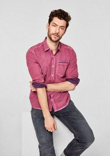 s.Oliver RED LABEL Regular: Hemd in Garment Dye