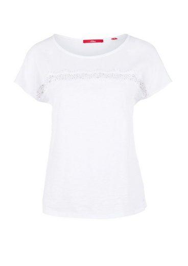 s.Oliver RED LABEL Shirt im Texturmix mit Zierborte