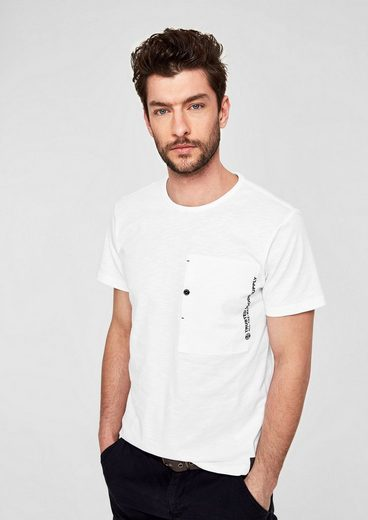 s.Oliver RED LABEL T-Shirt mit Fashion-Brusttasche