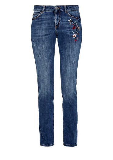 s.Oliver RED LABEL Smart Straight: Emboidery-Jeans