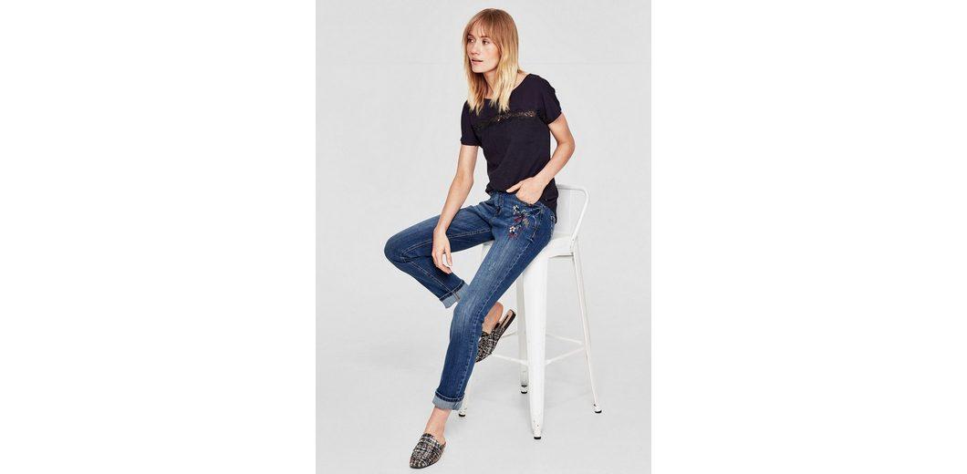Billig Verkaufen Die Billigsten s.Oliver RED LABEL Smart Straight: Emboidery-Jeans Mit Mastercard Manchester Große Online-Verkauf AcWkiZ0V