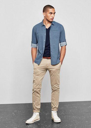 Q/S designed by Extra Slim: Hemd aus Baumwolltwill