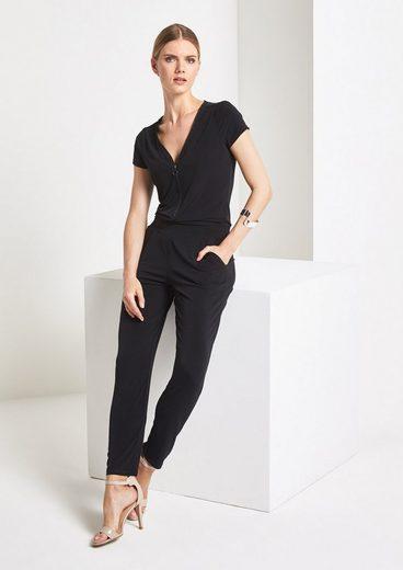 COMMA Lässiger Jersey-Jumpsuit mit Zipper