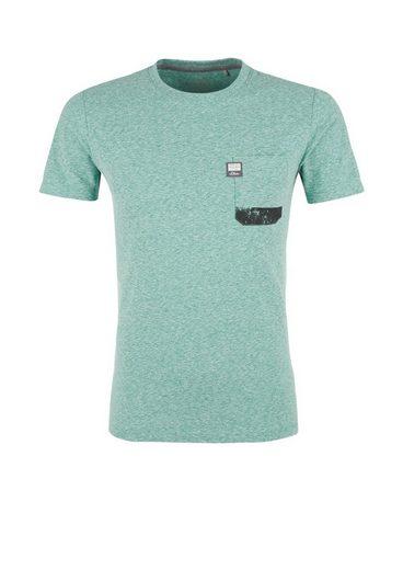 s.Oliver RED LABEL Slim: Crew Neck-Shirt mit Brusttasche