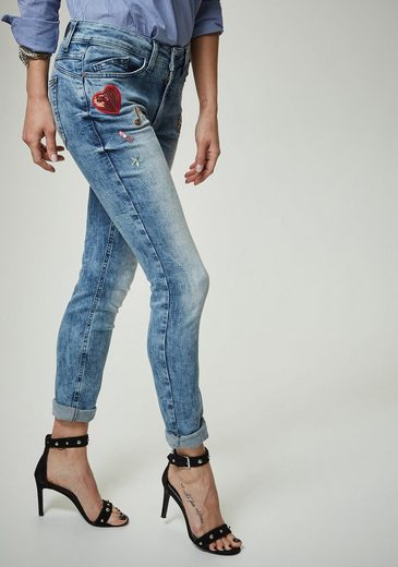 Pierre Cardin Used Jeans Mit Patches - Skinny Fit My Favourite