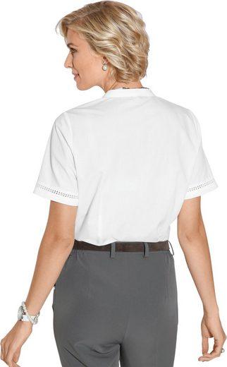 Classic Bluse mit aufwendiger Häkelspitze