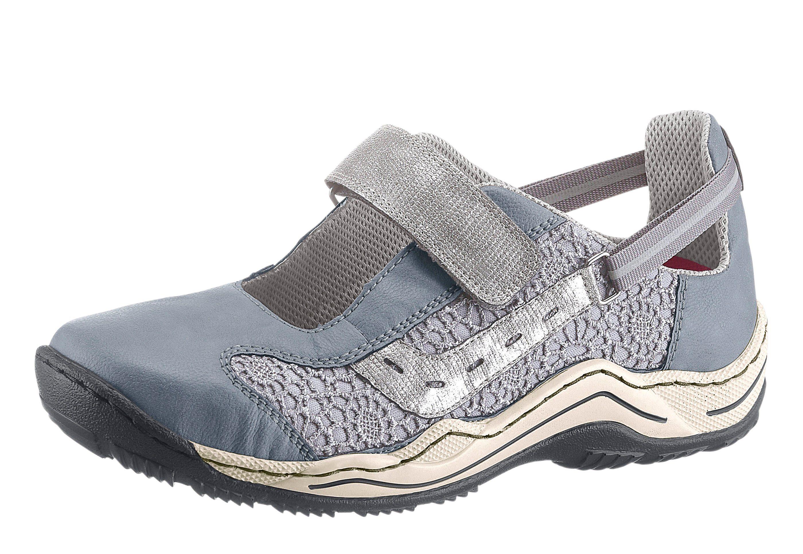 Rieker Klettschuh mit rutschhemmender PU-Laufsohle  jeansblau