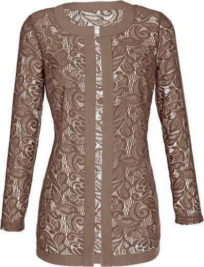 Classic Basics Shirt Jacket With Lace