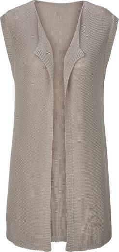 Classic Inspirations Knit Vest Cutout Cardigan-with