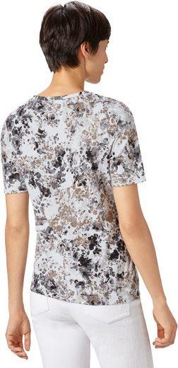 Classic Basics Shirt mit floralem Dessin
