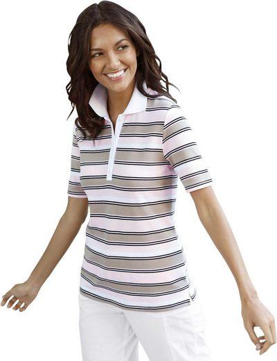Collection L. Poloshirt aus luftigem Pikee