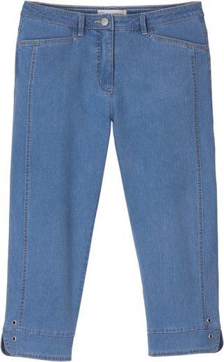Collection L. Capri-Jeans mit figurfreundlichen Kontrastnähten im Vorderteil