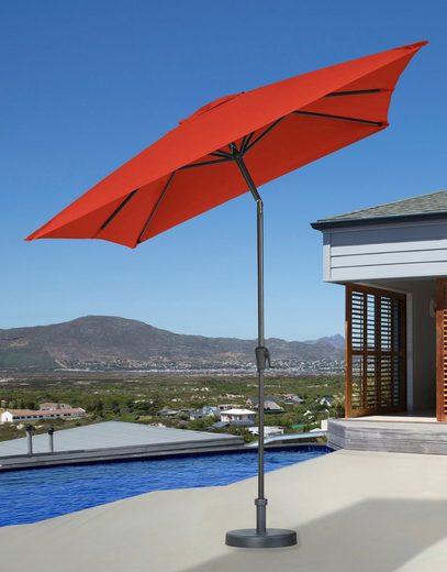 garten gut Sonnenschirm, LxB: 200x300 cm, abknickbar, ohne Schirmständer