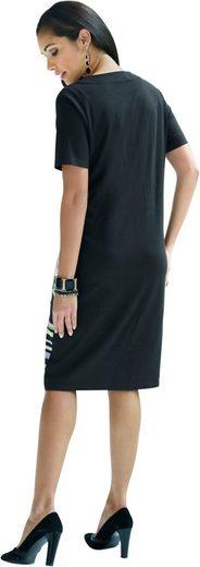 Classic Basics Kleid mit paspeliertem Rundhals-Ausschnitt