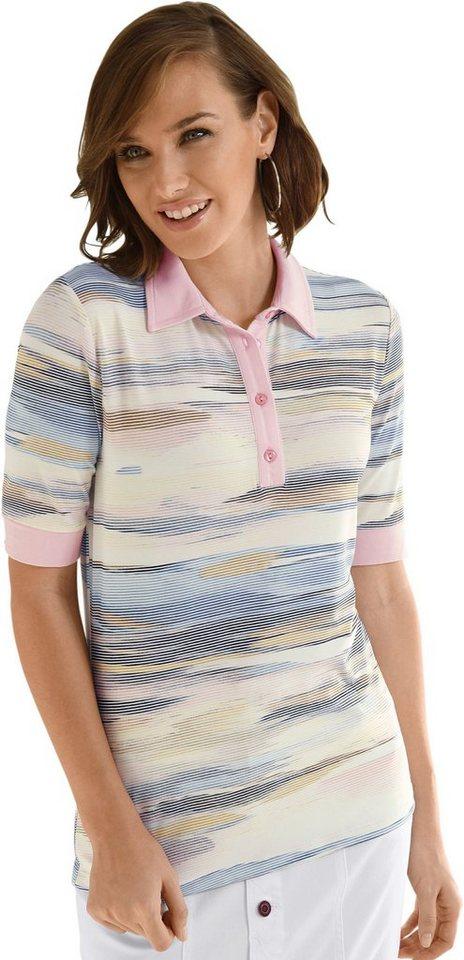 Damen Collection L. Poloshirt im modischen Multicolour-Ringel bunt,mehrfarbig | 08680851089991