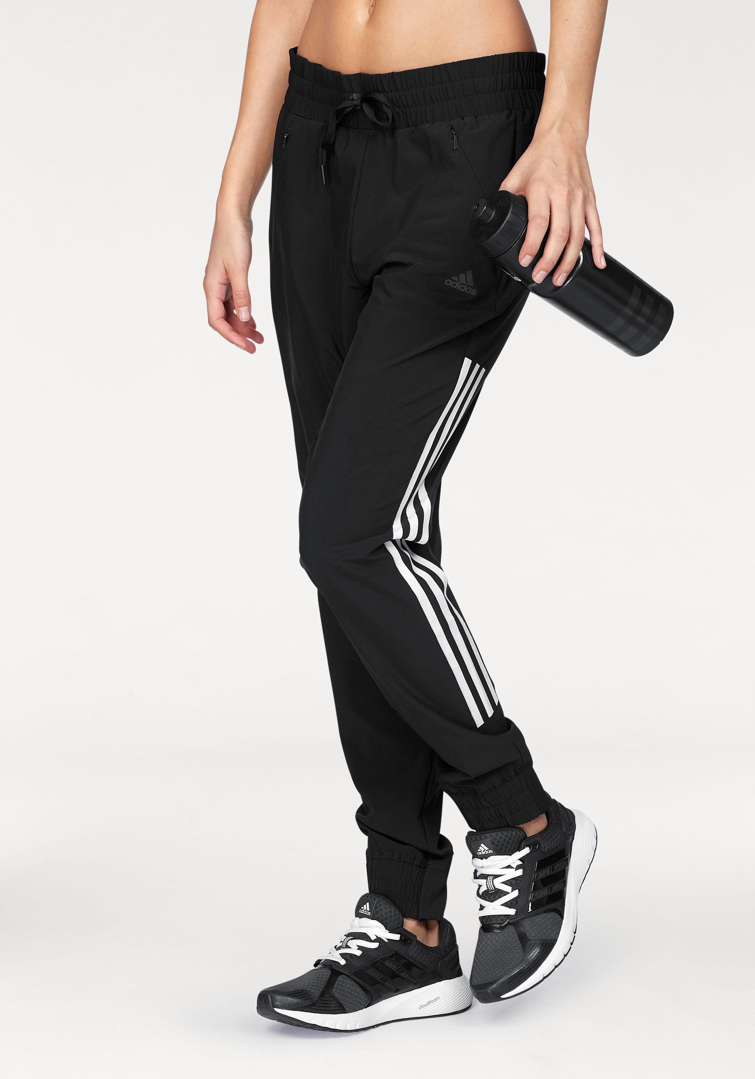 adidas Performance Woven Trainingshose Damen schwarz