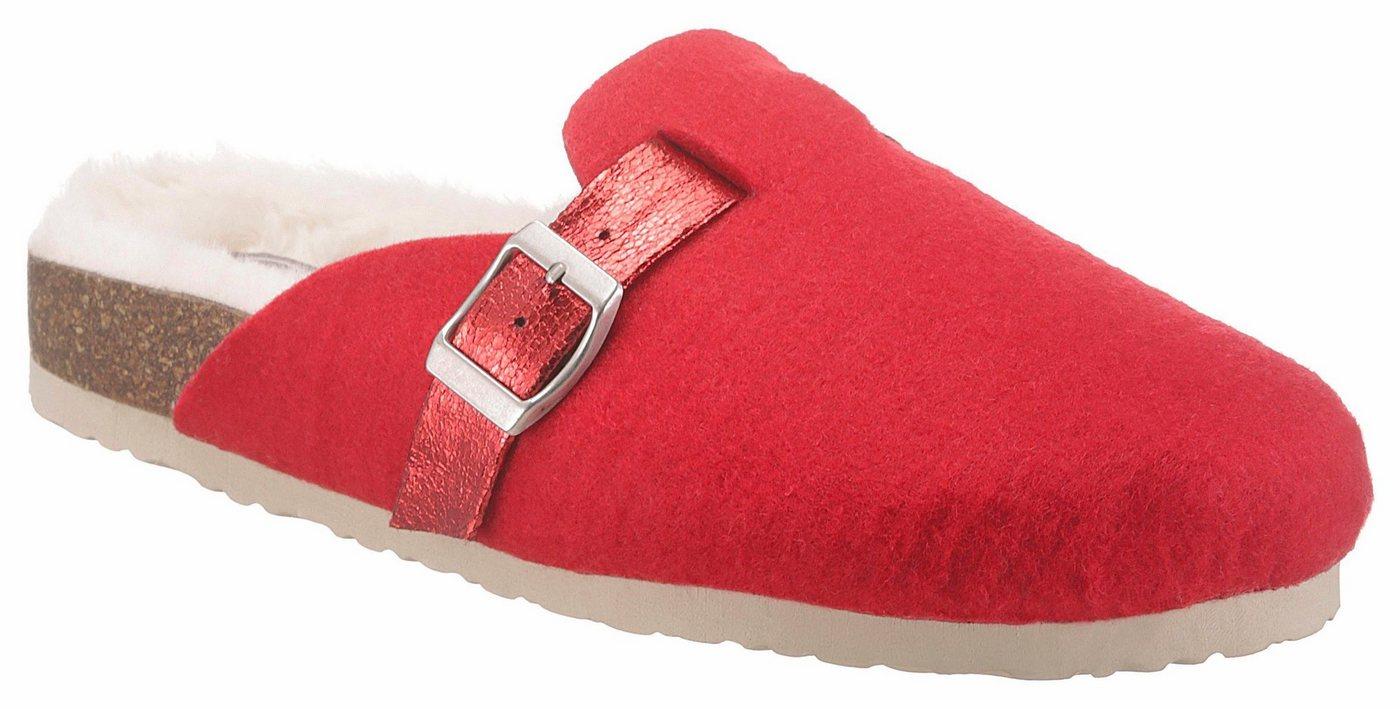 CITY WALK Pantoffel mit kuscheligem Warmfutter | Schuhe > Hausschuhe > Pantoffeln | Rot | CITY WALK