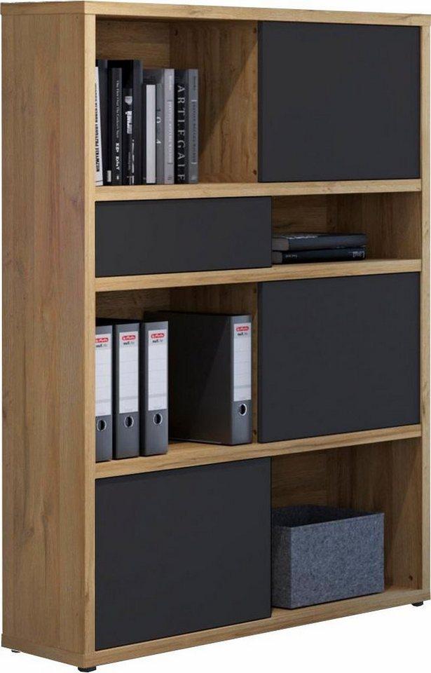 hmw regal slide mit schiebefronten und r ckwand. Black Bedroom Furniture Sets. Home Design Ideas