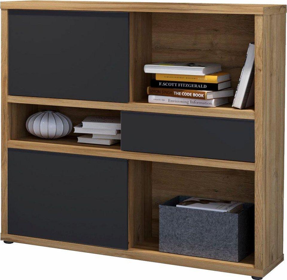 hmw regal slide mit schiebefronten und r ckwand made in. Black Bedroom Furniture Sets. Home Design Ideas
