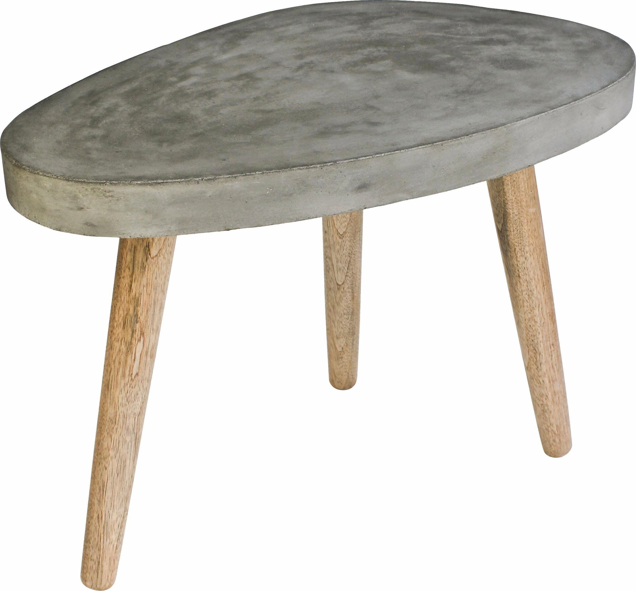 SIT Couchtisch »Cement«, nierenförmige Tischplatte, in zwei, Höhen