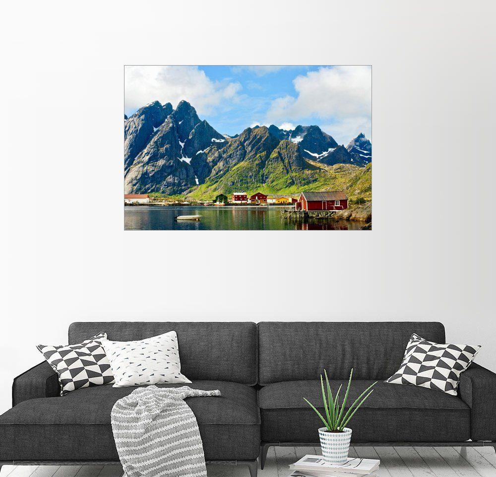 Posterlounge Wandbild - Olaf Protze »Berglandschaft | Lofoten Inseln | Norwegen«