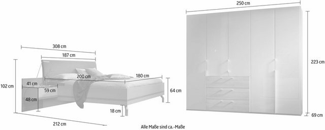 Schlafzimmer Sets - nolte® Möbel Schlafzimmer Set »concept me 220«  - Onlineshop OTTO
