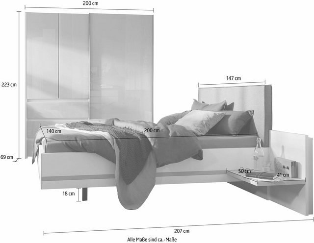 Schlafzimmer Sets - nolte® Möbel Schlafzimmer Set »concept me 320«  - Onlineshop OTTO