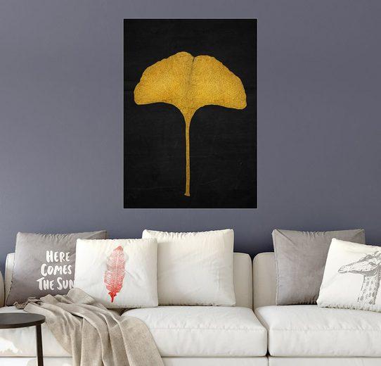 Posterlounge Wandbild - Sybille Sterk »Goldenes Ginkgoblatt«