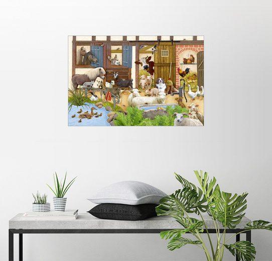Posterlounge Wandbild - Marion Krätschmer »Tiere auf dem Bauernhof«