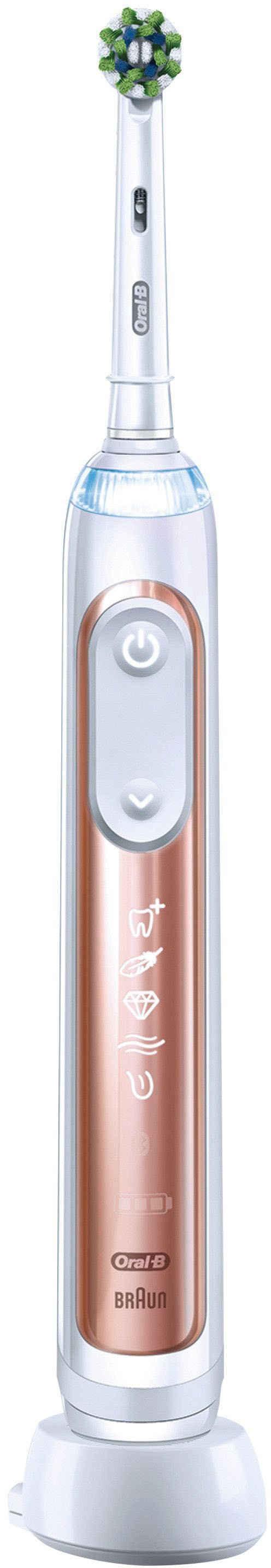 Oral B Elektrische Zahnbürste Genius X, mit künstlicher Intelligenz & Putztechnikerkennung, visuelle Andruckkontrolle, 6 Putzmodi inkl. Sensitiv, Timer