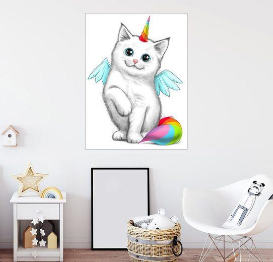 Posterlounge Wandbild - Nikita Korenkov »Einhorn Katze«