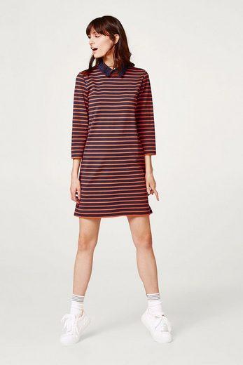 EDC BY ESPRIT Gestreiftes Kleid mit Stretchkomfort