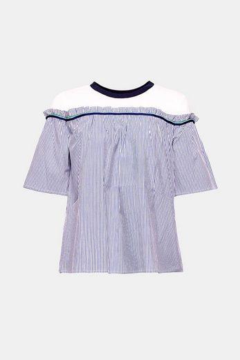 ESPRIT Blusen-Shirt aus Material-Mix
