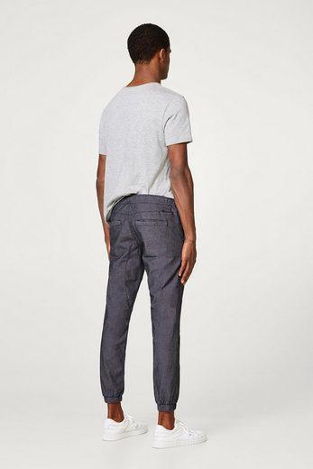 EDC BY ESPRIT Fein melierter Jogg-Pants aus Baumwoll-Stretch