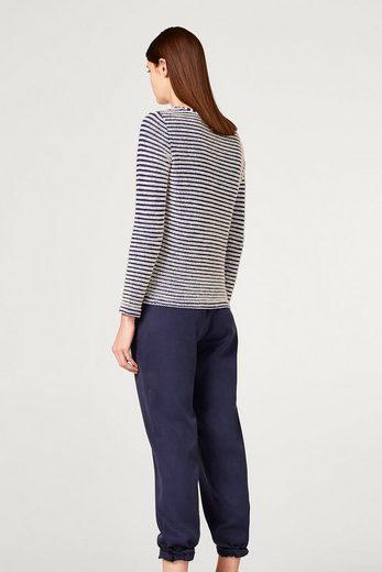 ESPRIT Sweatshirt mit Struktur-Ringeln, 100% Baumwolle