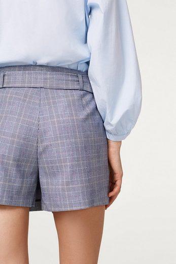 ESPRIT Karierte Shorts mit Wickel-Effekt