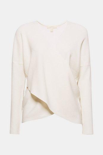 ESPRIT Feinstrick Wickel-Pullover
