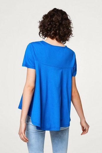 ESPRIT Schwingendes A-Line-Shirt aus leichtem Jersey