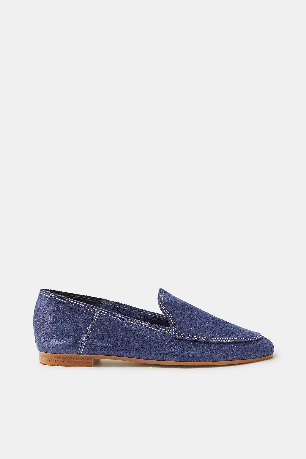 Esprit Loafer auf aufgerautem Leder mit Glitter-Finish für Damen, Größe 38, Pastel Pink
