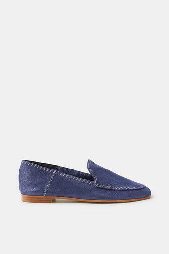 ESPRIT Loafer auf aufgerautem Leder mit Glitter-Finish