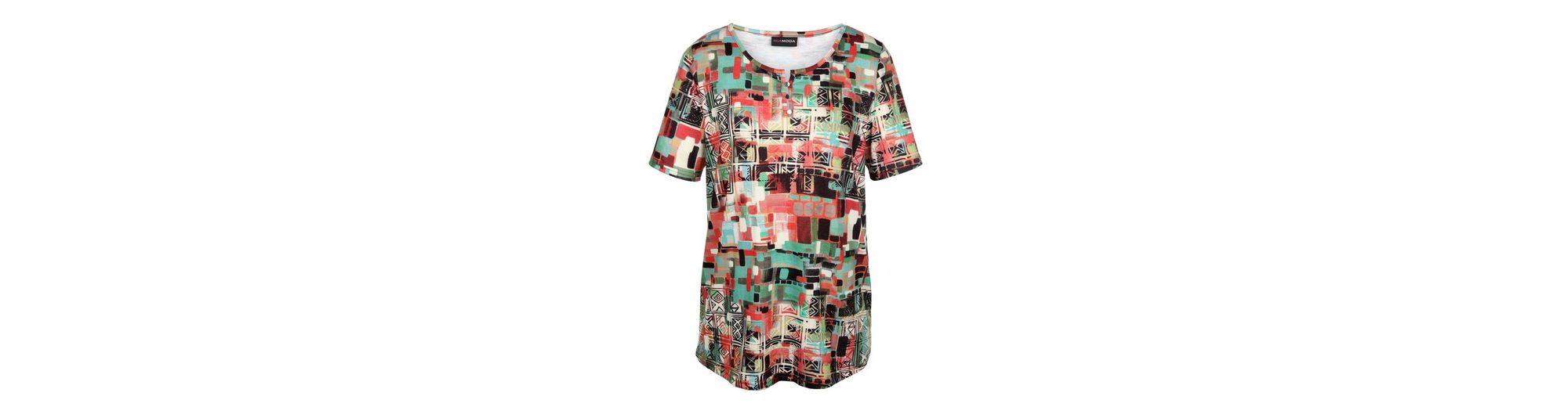 MIAMODA Shirt mit Knopfleiste am Ausschnitt Billig Verkauf Mit Mastercard Billig Günstig Online Wie Viel 7zQWIT
