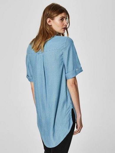 Selected Femme Loose Fit Kurzarmhemd