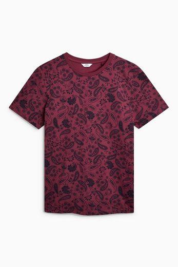 Next T-Shirt mit Paisley-Muster