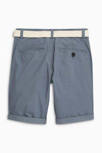 Next Chino-Shorts mit Gürtel aus Popeline