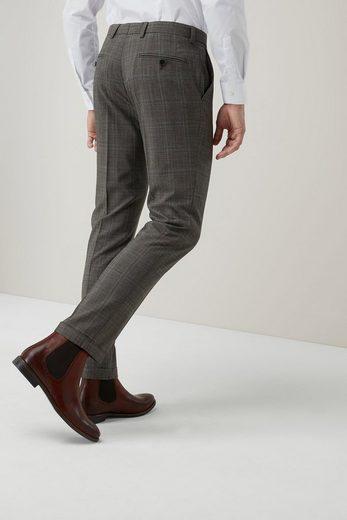 Next Skinny Fit-Anzug mit Karomuster und Struktur: Hose