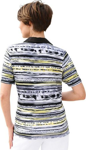 Collection L. Shirt mit kontrastfarbigem Polokragen