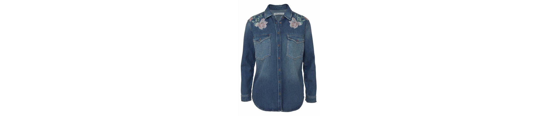 Mavi Jeans Jeansbluse MEG, mit floraler Stickerei